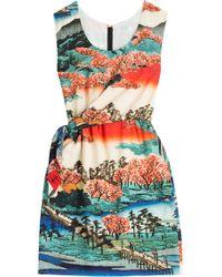 Carven Printed Silk Dress - Lyst