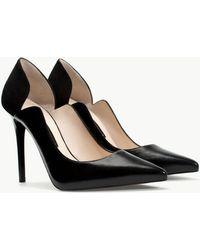 Zara Asymmetric Leather Court Shoe - Lyst