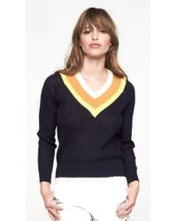 Band Of Outsiders Stripe Tennis Sweater - Lyst