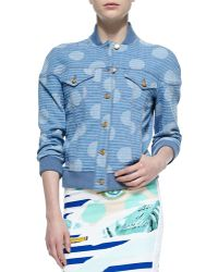 Kenzo Striped Dotted Denim Jacket - Lyst