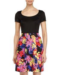 Betsey Johnson Dress W/ Floral-Print Skirt - Lyst