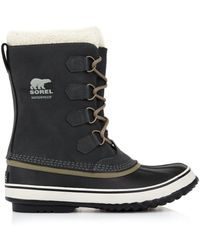 Sorel Coal Suede and Rubber Boots - Lyst