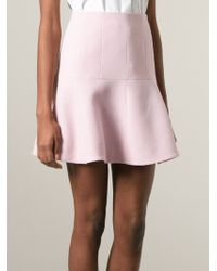 Carven Flared Skirt - Lyst