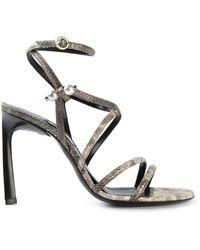 Lanvin Strappy Sandals brown - Lyst