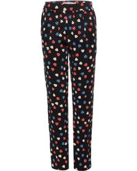 See By Chloé Jacquard Trousers multicolor - Lyst