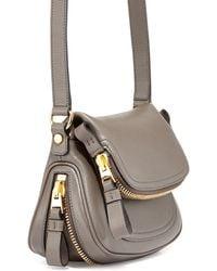 Tom Ford Jennifer Mini Leather Crossbody Bag - Lyst