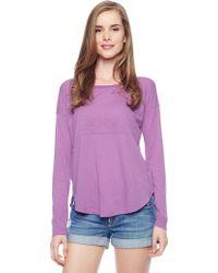 Splendid Slub Jersey Shirttail Top - Lyst