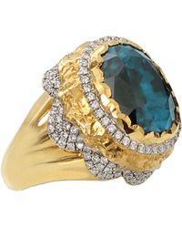 Victor Velyan - Blue Zircon Ring - Lyst