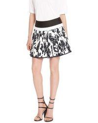 DKNY Cotton Pleated Mini Skirt - Lyst