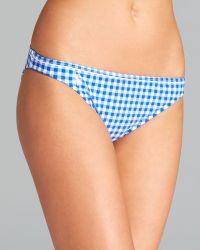Ralph Lauren Blue Label Gingham Piped Waist Hipster Bikini Bottom - Lyst