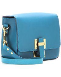 Sophie Hulme Box Flap Leather Satchel - Lyst
