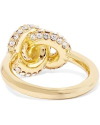 Giles & Brother - Gold-plated Crystal Ring - Lyst