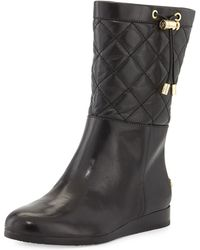MICHAEL Michael Kors Lizzie Quilted Mid Boot - Lyst