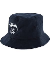 0f3bbff995b7b4 ... reduced stussy stock lock bucket hat for men lyst 2de5e 3a2fa