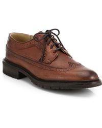 Frye James Lug Wingtip Derby Shoes - Lyst