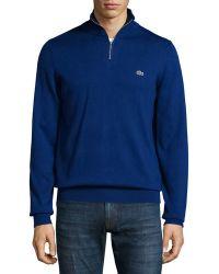 Lacoste - Half-zip Jersey Knit Sweatshirt - Lyst
