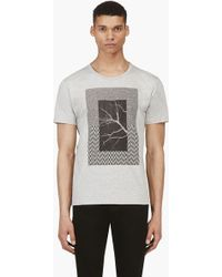 Surface To Air Grey Graphic Print T_shirt - Lyst