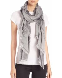 Alexander McQueen | Tattoo Cotton Jacquard Scarf | Lyst