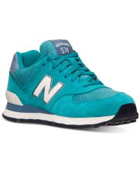 New Balance Womens 574 Pennant Casual Sneakers From Finish Line - Lyst