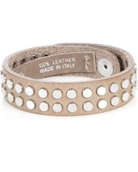 Iro Leather Two Row Stud Bracelet - Lyst