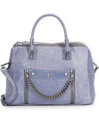 Ash Zowie Textured Leather Satchel - Lyst