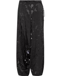 Yohji Yamamoto Regulation | Hawthorne Devoré Wide-Leg Trousers | Lyst