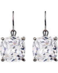 Bottega Veneta - Zirconia And Oxidised-Silver Earrings - Lyst
