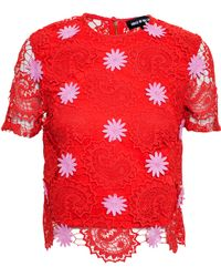 House of Holland Paisley Lace Blouse - Lyst