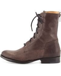 Frye Jamie Leather Laceup Boot - Lyst