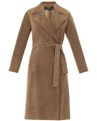 Gucci Suede Wraparound Trench Coat - Lyst