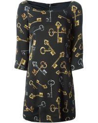 Dolce & Gabbana Medieval Keys Print Dress - Lyst