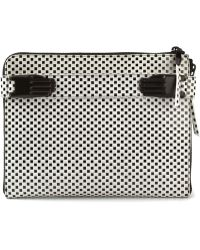 Opening Ceremony Paloma Tech Checkered Clutch - Lyst