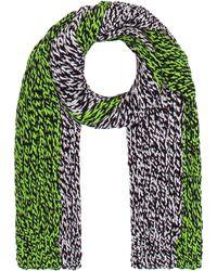 Raf Simons Mens Bi-color Knit Split Scarf - Lyst