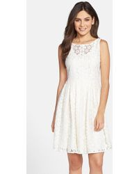 Taylor Dresses Lace Fit & Flare Dress - Lyst