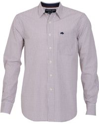 Raging Bull Big and Tall Fine Check Long Sleeve Shirt - Lyst