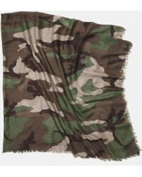 Coach Printed Camo Oversize Square Scarf - Lyst