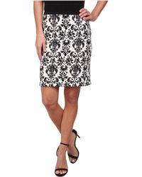 Karen Kane Printed Scuba Pencil Skirt - Lyst