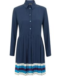 House Of Holland Pleated Shirt Dress - Lyst