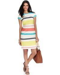 Tommy Hilfiger Short Sleeve Striped Dress - Lyst