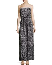 Rachel Pally Splatterprint Strapless Selftie Maxi Dress - Lyst