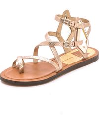 Dolce Vita Ferrah Sandals - Light Gold - Lyst
