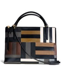 Coach The Large Borough Bag in Patchwork Leather - Lyst
