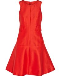 Carven Cotton And Silk-Blend Dress - Lyst