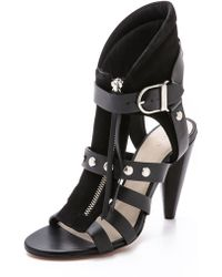 Iro Black Xilly Sandals  - Lyst