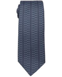 Hermès Navy And Grey Chain Print Silk Tie - Lyst