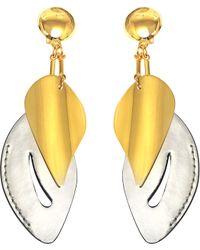 Marni - Leaf Brass Earrings - Lyst
