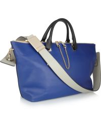 Chloé Baylee Medium Twotone Leather Tote - Lyst