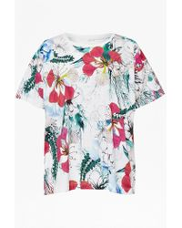 French Connection Floral Reef Printed T-Shirt multicolor - Lyst