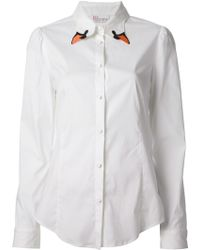 RED Valentino Swan Embroidered Shirt - Lyst