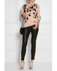 McQ by Alexander McQueen Bird Velvetflocked Cotton Sweatshirt - Lyst